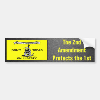 Gadsden Flag 2nd Amendment Political Car Bumper Sticker
