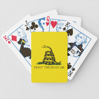 Gadsden Flag Bicycle Playing Cards