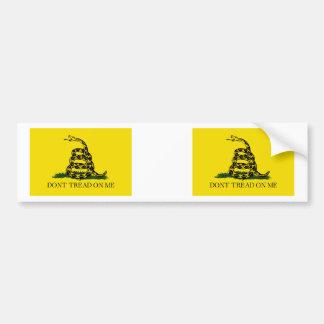 Gadsden Flag Car Bumper Sticker