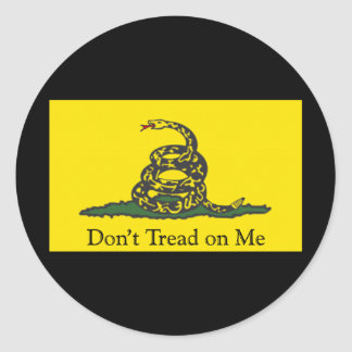 Gadsden Flag Classic Round Sticker