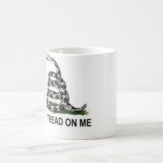 Gadsden flag classic white coffee mug