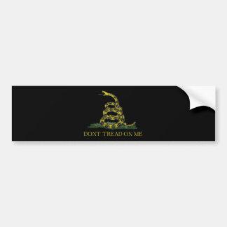 Gadsden Flag Coiled Snake Bumper Sticker