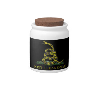 Gadsden Flag Coiled Snake Candy Dish