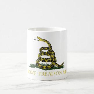 Gadsden Flag Coiled Snake Coffee Mug