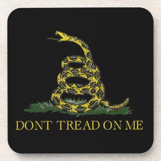 Gadsden Flag Coiled Snake Beverage Coaster