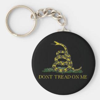 Gadsden Flag Coiled Snake Keychain