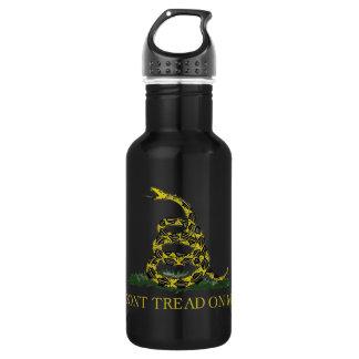 Gadsden Flag Coiled Snake Stainless Steel Water Bottle