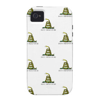 Gadsden Flag Coiled Snake Tiled Image iPhone 4 Cover
