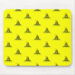 Gadsden Flag Coiled Snake Tiled Image Mouse Pad
