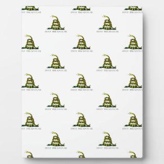 Gadsden Flag Coiled Snake Tiled Image Plaque