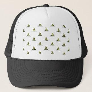 Gadsden Flag Coiled Snake Tiled Image Trucker Hat