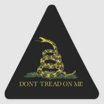 Gadsden Flag Coiled Snake Triangle Sticker