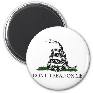 "Gadsden Flag ""Don't Tread On Me"" 2 Inch Round Magnet"