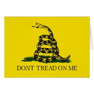 Gadsden Flag - Don't Tread On Me Card