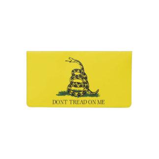 Gadsden Flag - Don't Tread on Me Checkbook Cover
