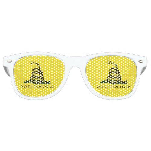 Gadsden Flag _ Dont Tread On Me _  Coiled Snake Retro Sunglasses