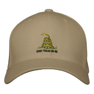 Gadsden Flag Dont Tread On Me Embroidered Baseball Hat