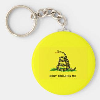 Gadsden Flag - DON'T TREAD ON ME Key Chains
