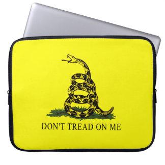 Gadsden Flag Dont Tread On Me Laptop Sleeve