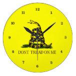 Gadsden Flag Dont Tread On Me Large Clock