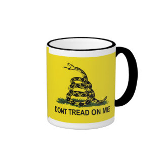 Gadsden Flag Dont Tread On Me Ringer Coffee Mug