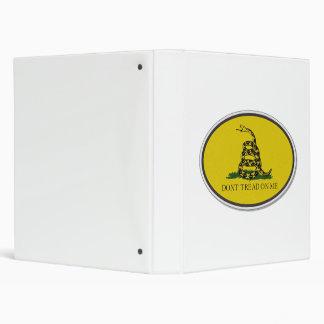 Gadsden Flag Dont Tread On Me Oval Design Vinyl Binders