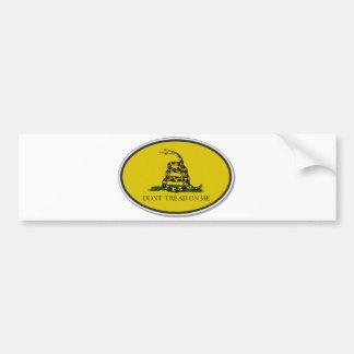 Gadsden Flag Dont Tread On Me Oval Design Bumper Sticker