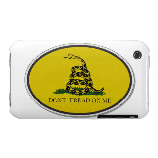 Gadsden Flag Dont Tread On Me Oval Design iPhone 3 Cover