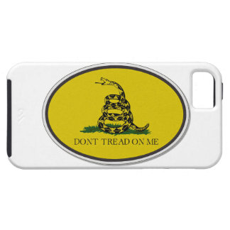 Gadsden Flag Dont Tread On Me Oval Design iPhone 5 Cases