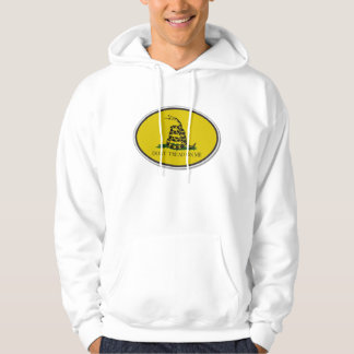 Gadsden Flag Dont Tread On Me Oval Design Hoodie