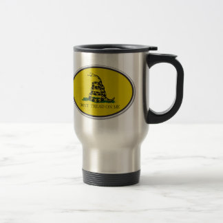 Gadsden Flag Dont Tread On Me Oval Design Coffee Mugs