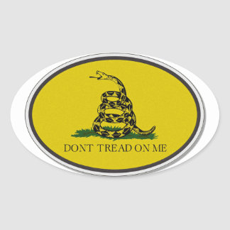 Gadsden Flag Dont Tread On Me Oval Design Oval Sticker