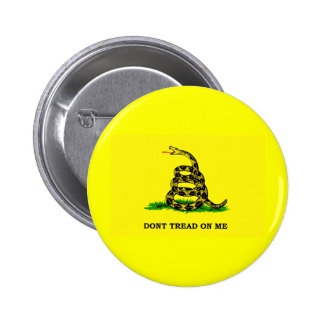 Gadsden Flag - DON'T TREAD ON ME Pinback Button