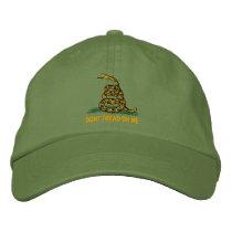 Gadsden Flag Dont Tread On Me Political Embroidered Baseball Hat