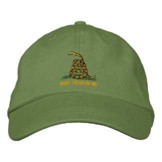 Gadsden Flag Dont Tread On Me Political Embroidered Baseball Hat