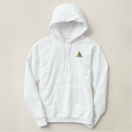 Gadsden Flag Dont Tread On Me Political Embroidered Hoodie