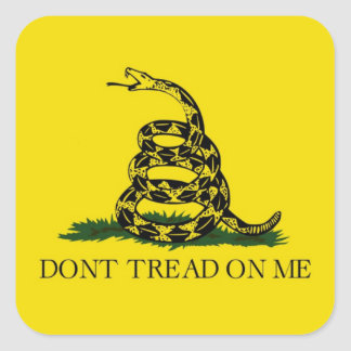 Gadsden Flag Dont Tread On Me Political Square Sticker