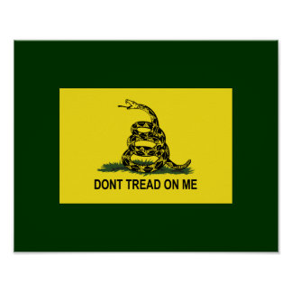 Gadsden Flag Dont Tread On Me Poster