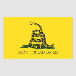 Gadsden Flag Don't Tread On Me Rectangular Sticker