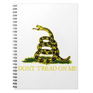 Gadsden Flag 'Don't Tread on Me' Spiral Notebook
