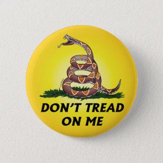 GADSDEN FLAG DON'T TREAD ON ME Tea Party Snake USA Button