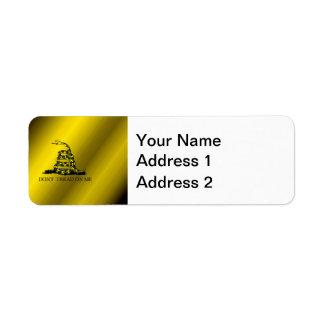 Gadsden Flag Return Address Label