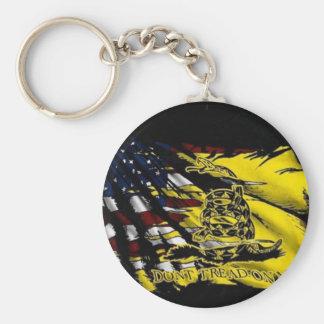 Gadsden Flag - Liberty Or Death Basic Round Button Keychain