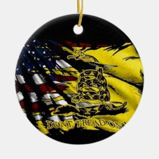 Gadsden Flag - Liberty Or Death Ceramic Ornament