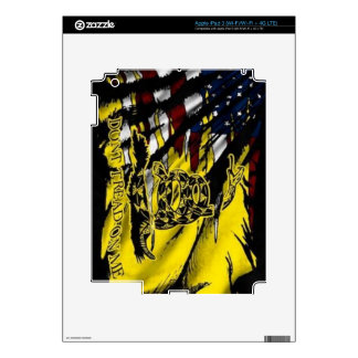 Gadsden Flag - Liberty Or Death Decals For iPad 3