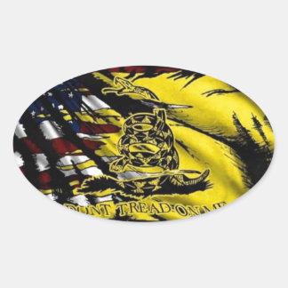 Gadsden Flag - Liberty Or Death Oval Sticker