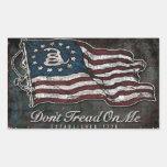 Gadsden Flag - Liberty Or Death Rectangular Sticker