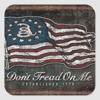 Gadsden Flag - Liberty Or Death Square Sticker