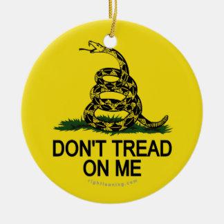 Gadsden Flag Double-Sided Ceramic Round Christmas Ornament