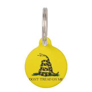 Gadsden Flag Pet ID Tag